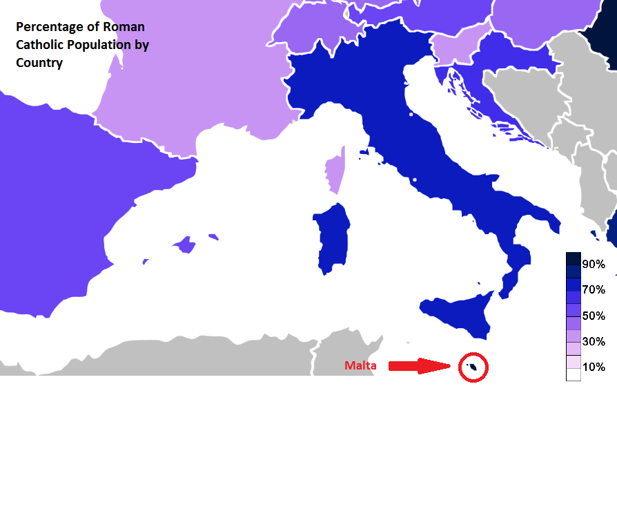 Culture And Social Development World History Malta - World religion map wikipedia